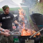 Hot 'n' smokin'! The jerk pit at Marchfest 2012. Photo courtesy of David Letsche Photography.
